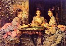 Mulheres Victorianas Jogando Paciência